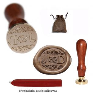 Ornate Scroll  Personalised Wax Seal Stamp 3 sizes 22mm 25mm 30mm